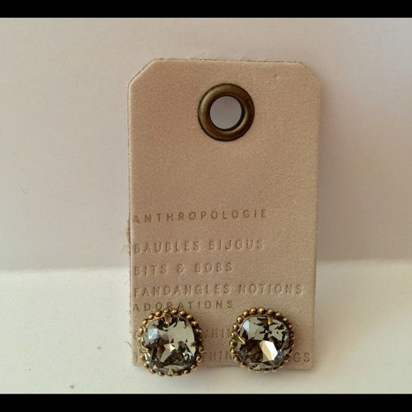 """Anthropologie Nolia Stud Earrings Family-run jewelry label Sorrelli designs event-ready statement pieces illuminated with sparkling Swarovski crystals. Swarovski crystal, brass Imported Style No. 37122298 Dimensions 0.5""""L, 0.5"""" diameter Anthropologie Jewelry Earrings"""