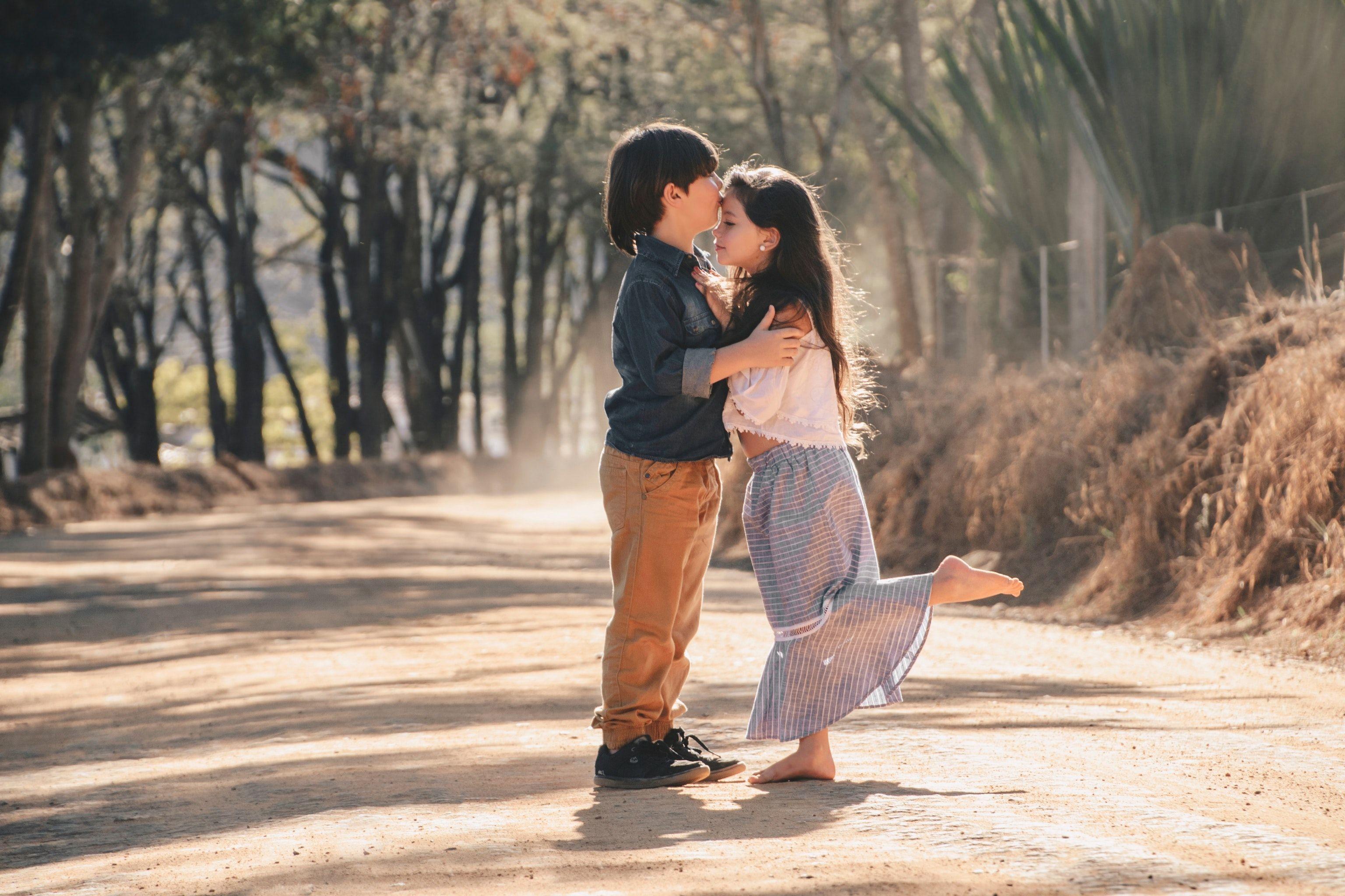 Adorable Kissing Adorable Kissing Boy Girl Tees