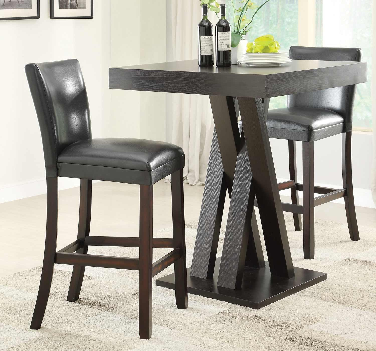 Coaster Bar Table Set Cappuccino These casual styled