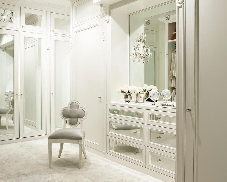 Luxurious White Walk In Closet Boasts Suzanne Kasler