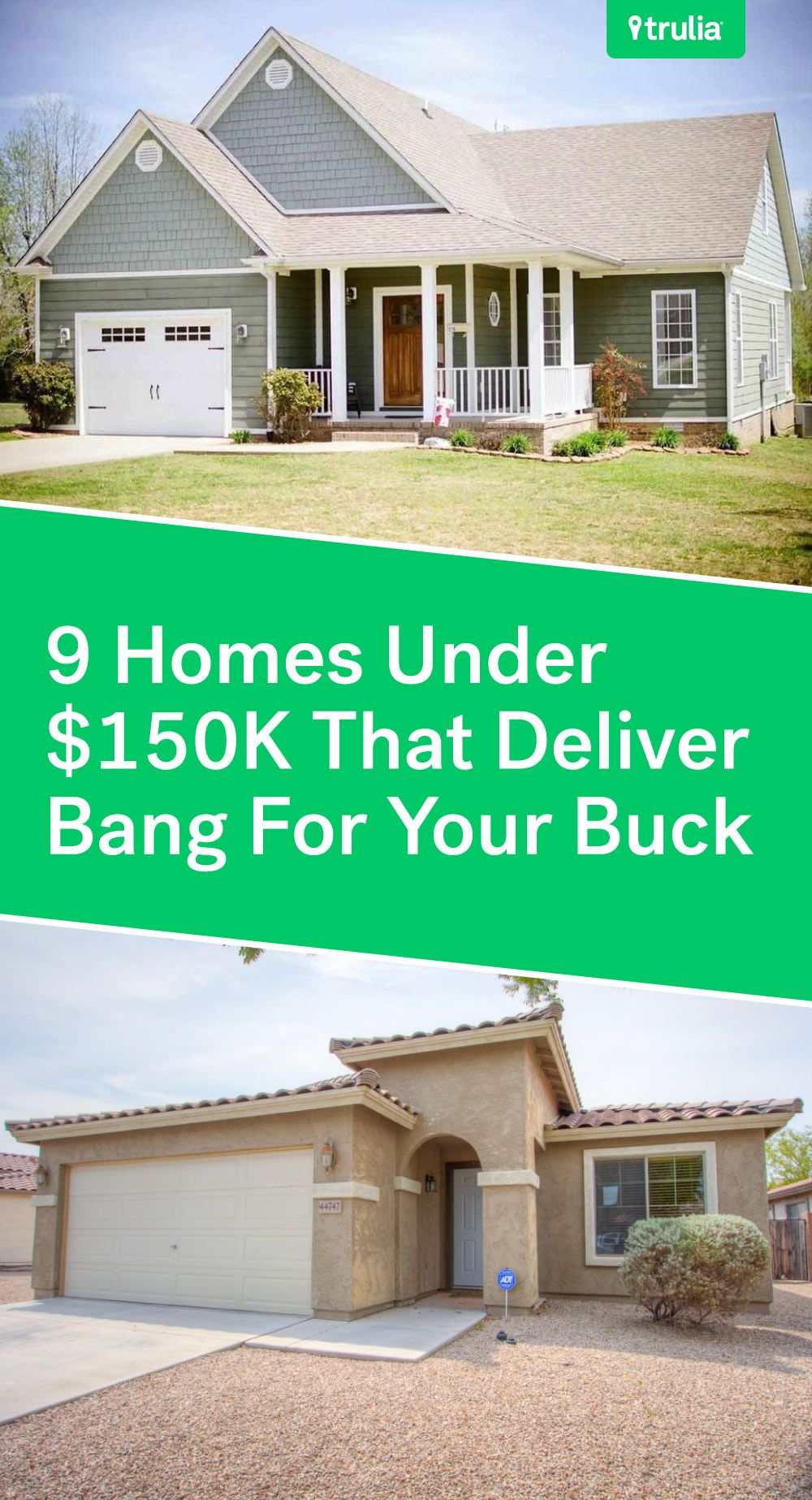 9 Affordable Houses Priced Under 150k Real Estate 101 Trulia Blog Building Plans House New House Plans House Prices