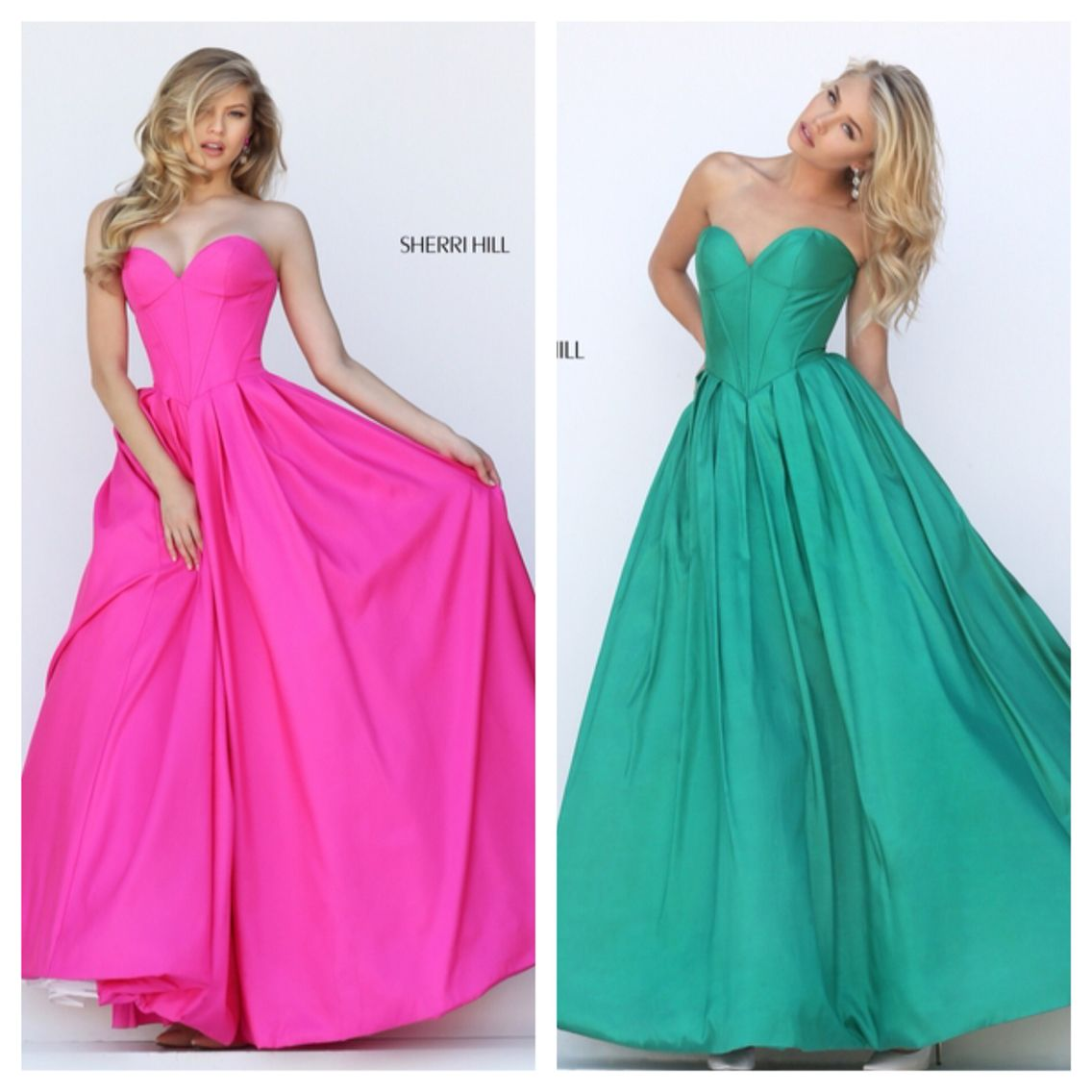 Sherri Hill 50406 for $398. Available in Pink, Emerald, and Red ...