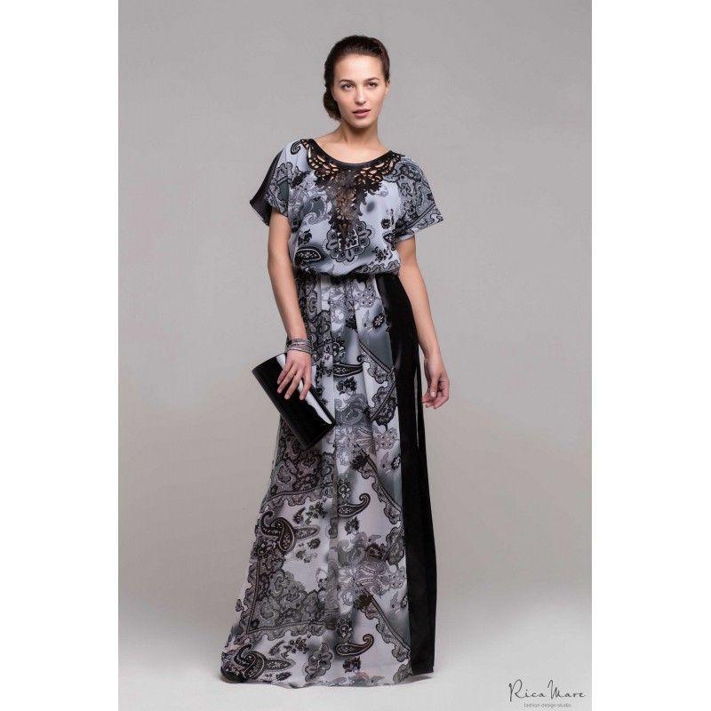 RM 207 Легкое длинное платье от Rica Mare можно приобрести в нашем интернет магазине как самовывозом, так и с доставкой по Москве