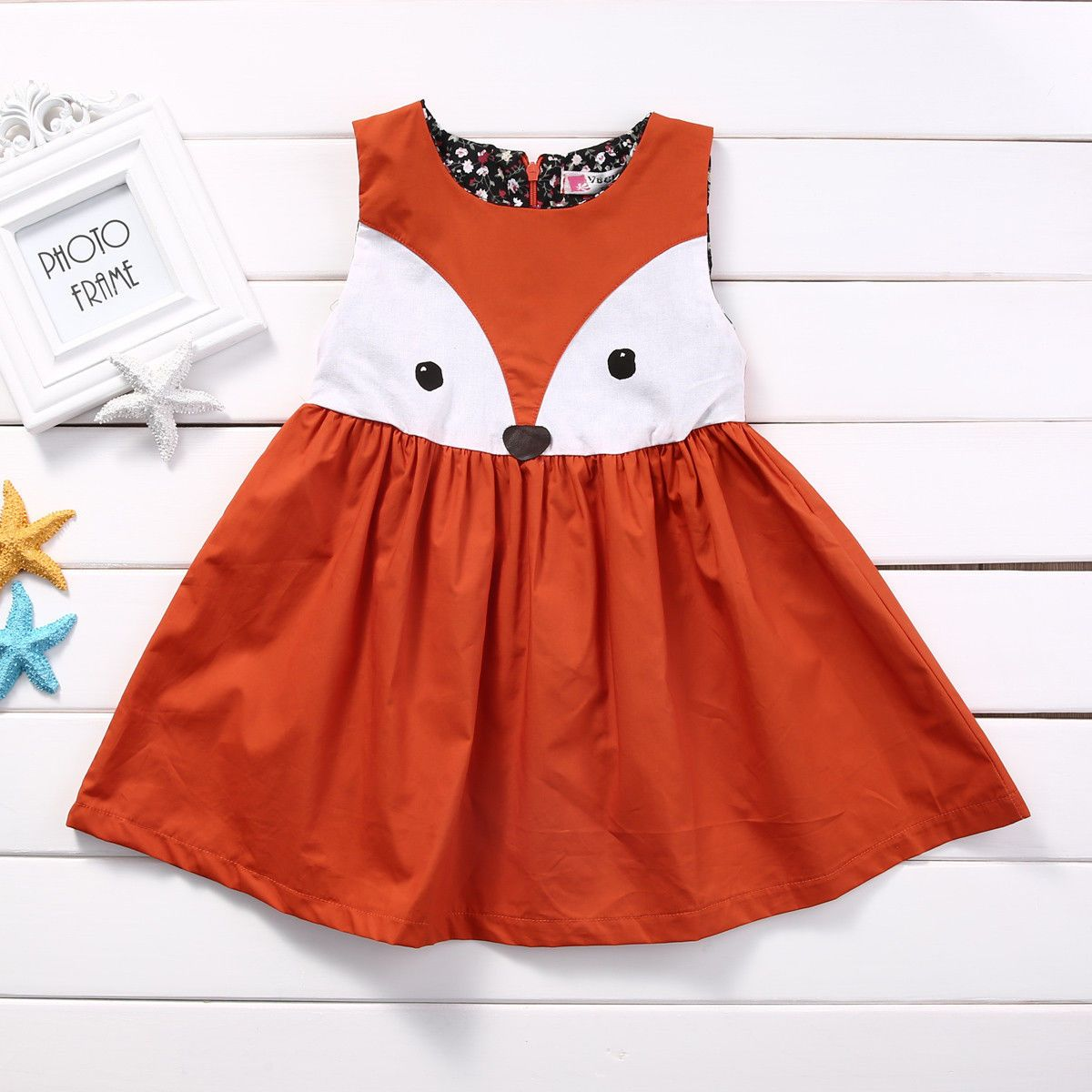 Awesome great us stock baby girls toddler kids fox dress party
