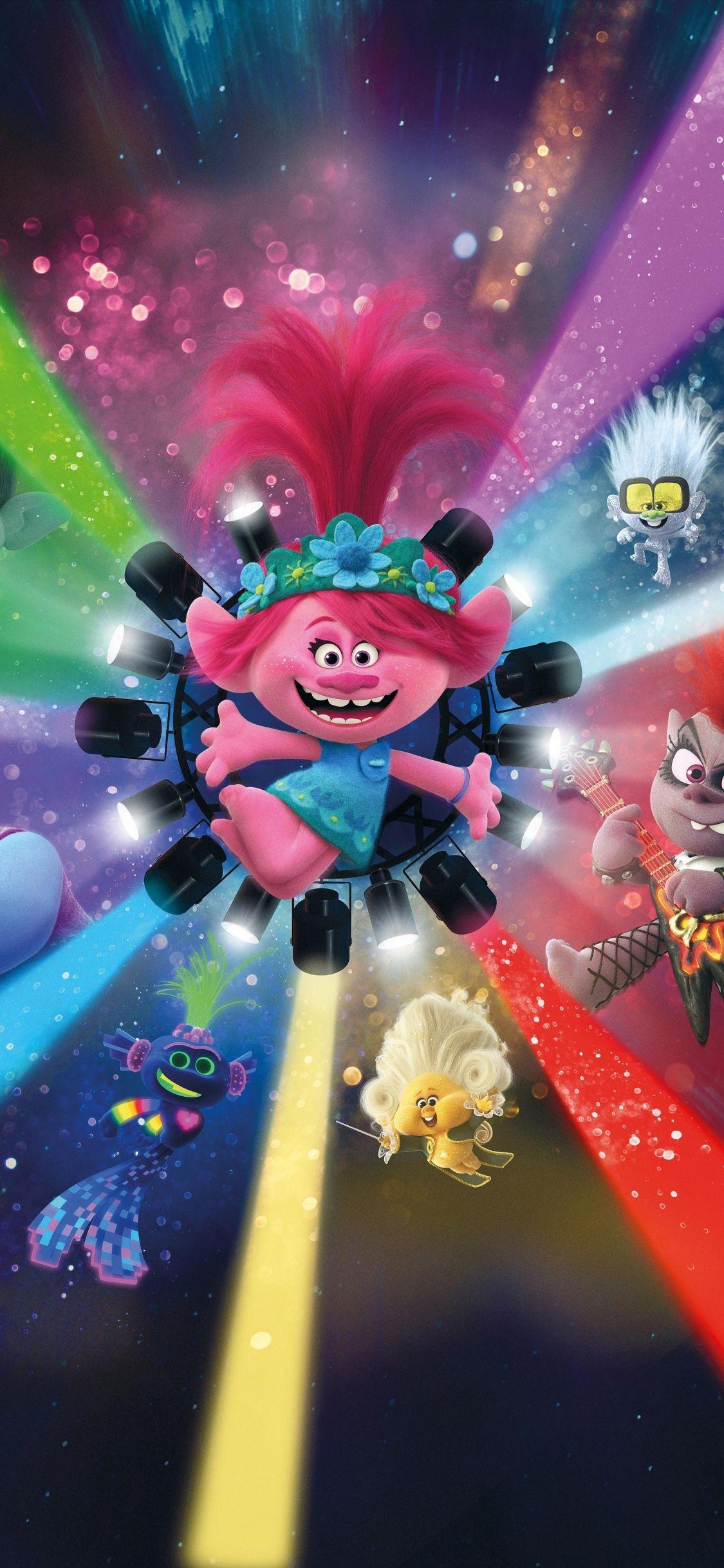 1125x2436 Trolls World Tour, 2020 animation movie