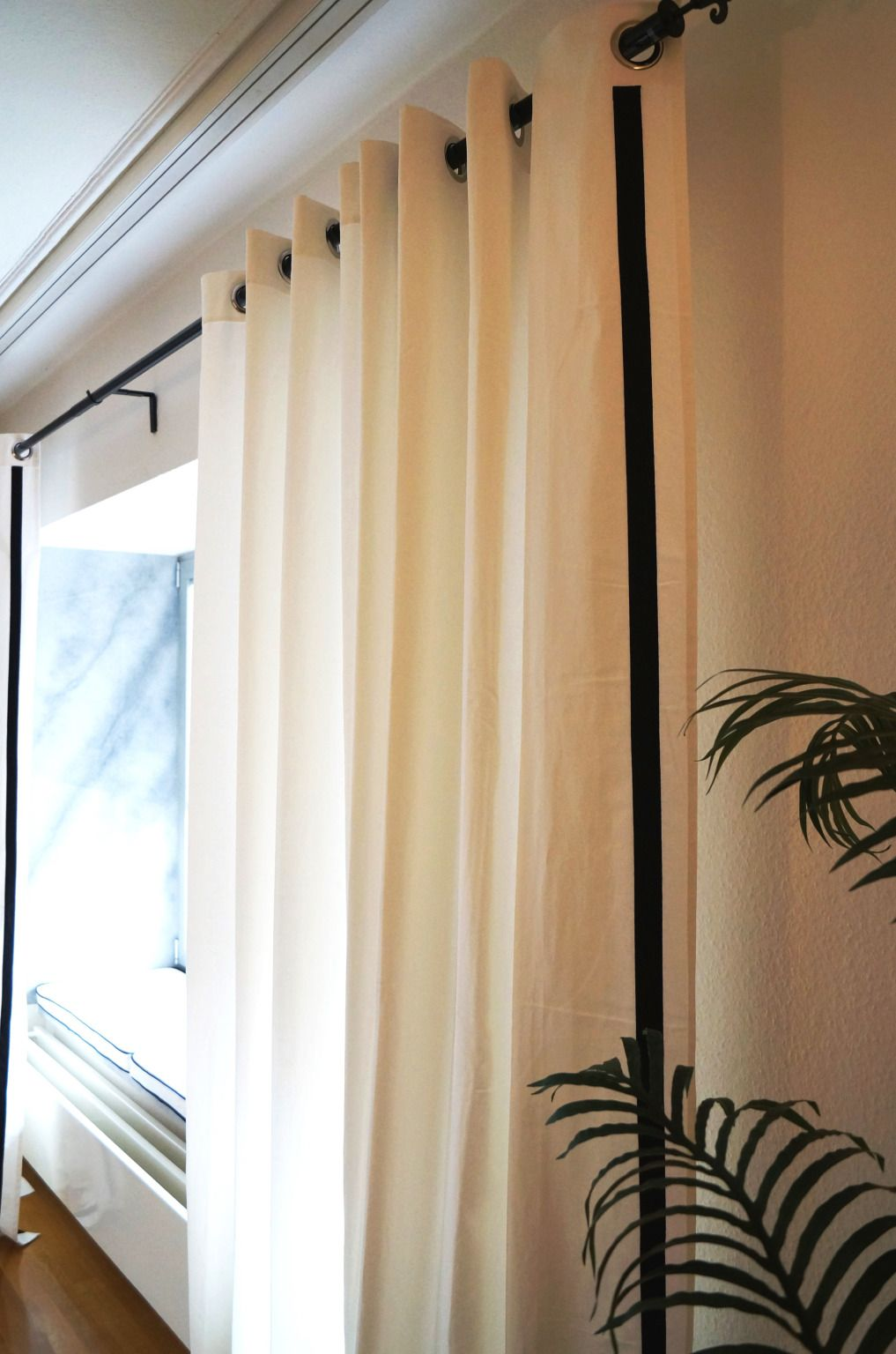 Ikea Merete Curtains Get An Upgrade Custom Drapes Curtains Ikea Curtains