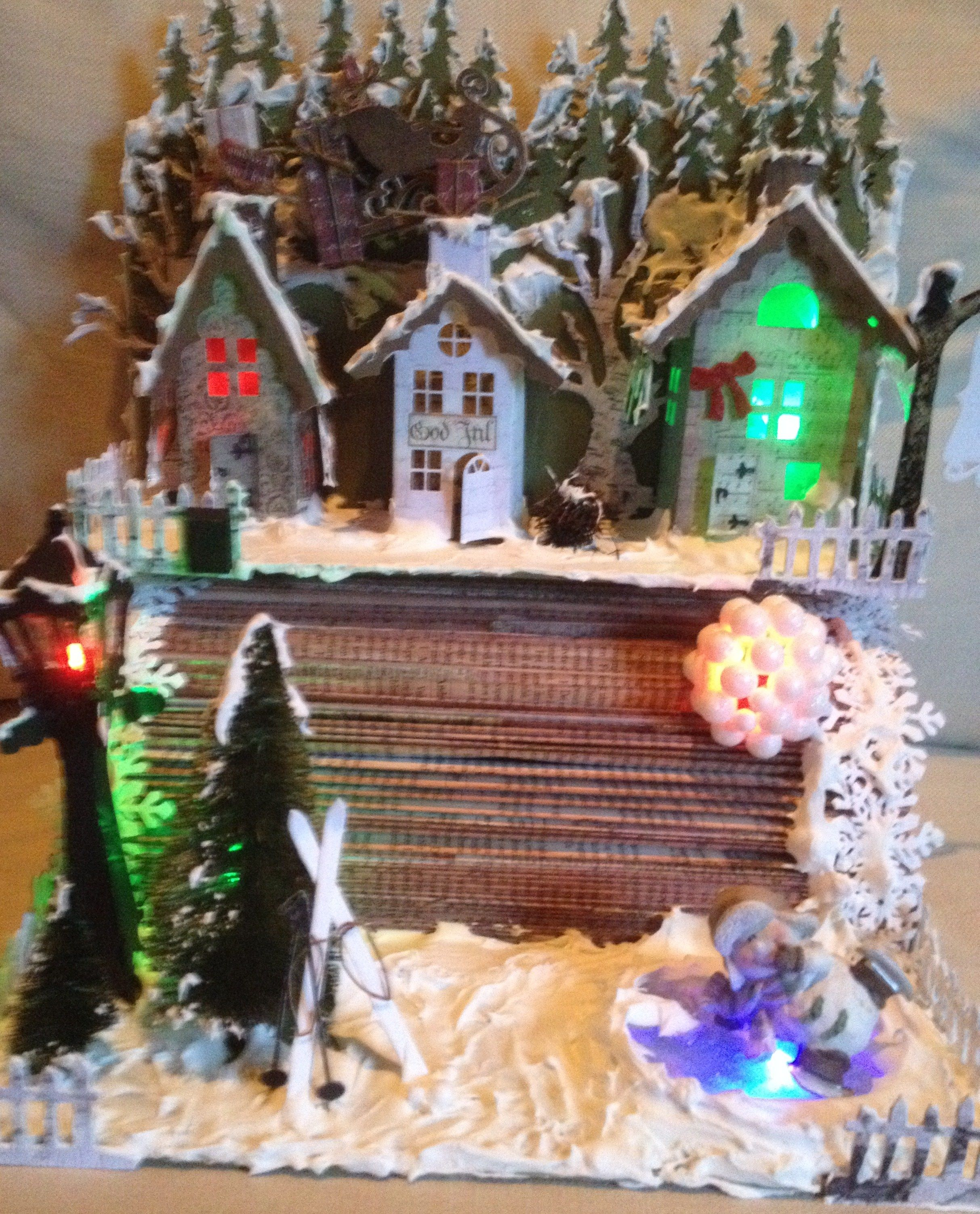 Altered book, Christmas town