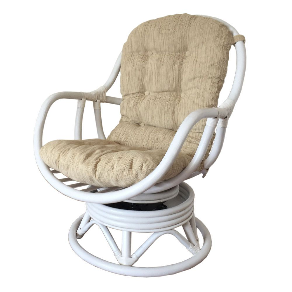 Rattan Swivel Chair Cushion Schaukelstuhl Stuhle Und Kissen