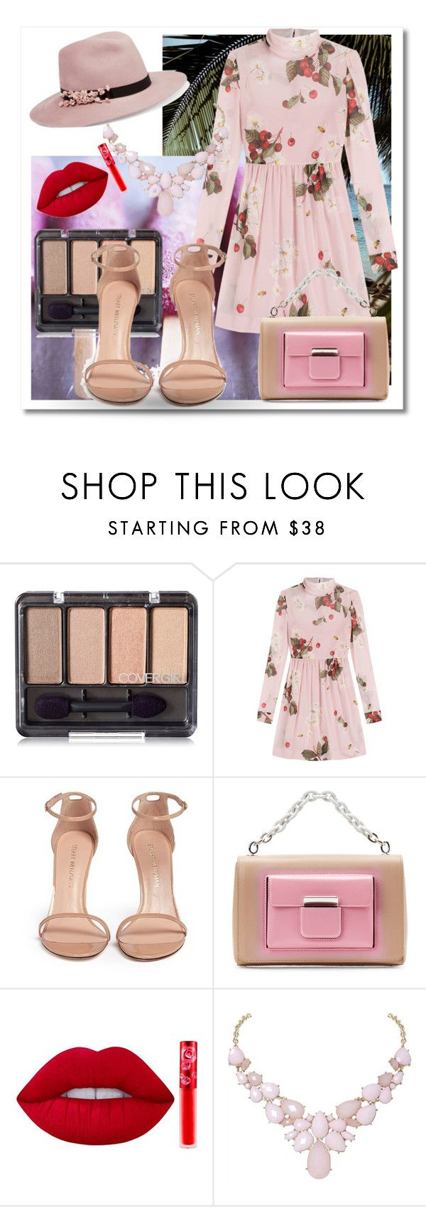 """Senza titolo #34"" by aryluny ❤ liked on Polyvore featuring RED Valentino, Stuart Weitzman, Balenciaga, Lime Crime, Humble Chic and Eugenia Kim"