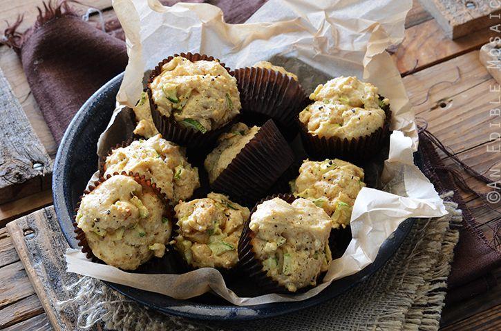 Savory Spiced Sour Cream Zucchini Muffins Recipe Happy Foods Zucchini Muffins Zucchini Muffin Recipes