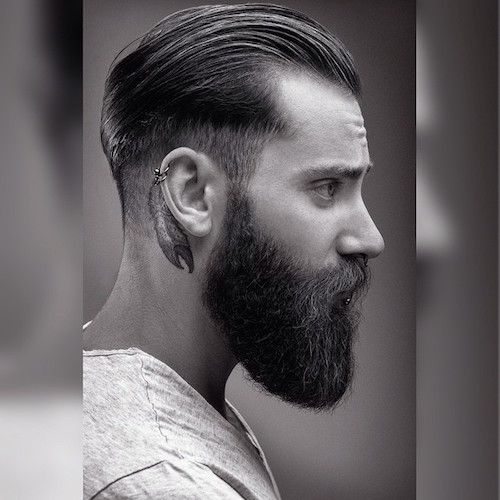 22 Cool Beards And Hairstyles For Men Beard Haircut Slicked Back Hair Hair And Beard Styles
