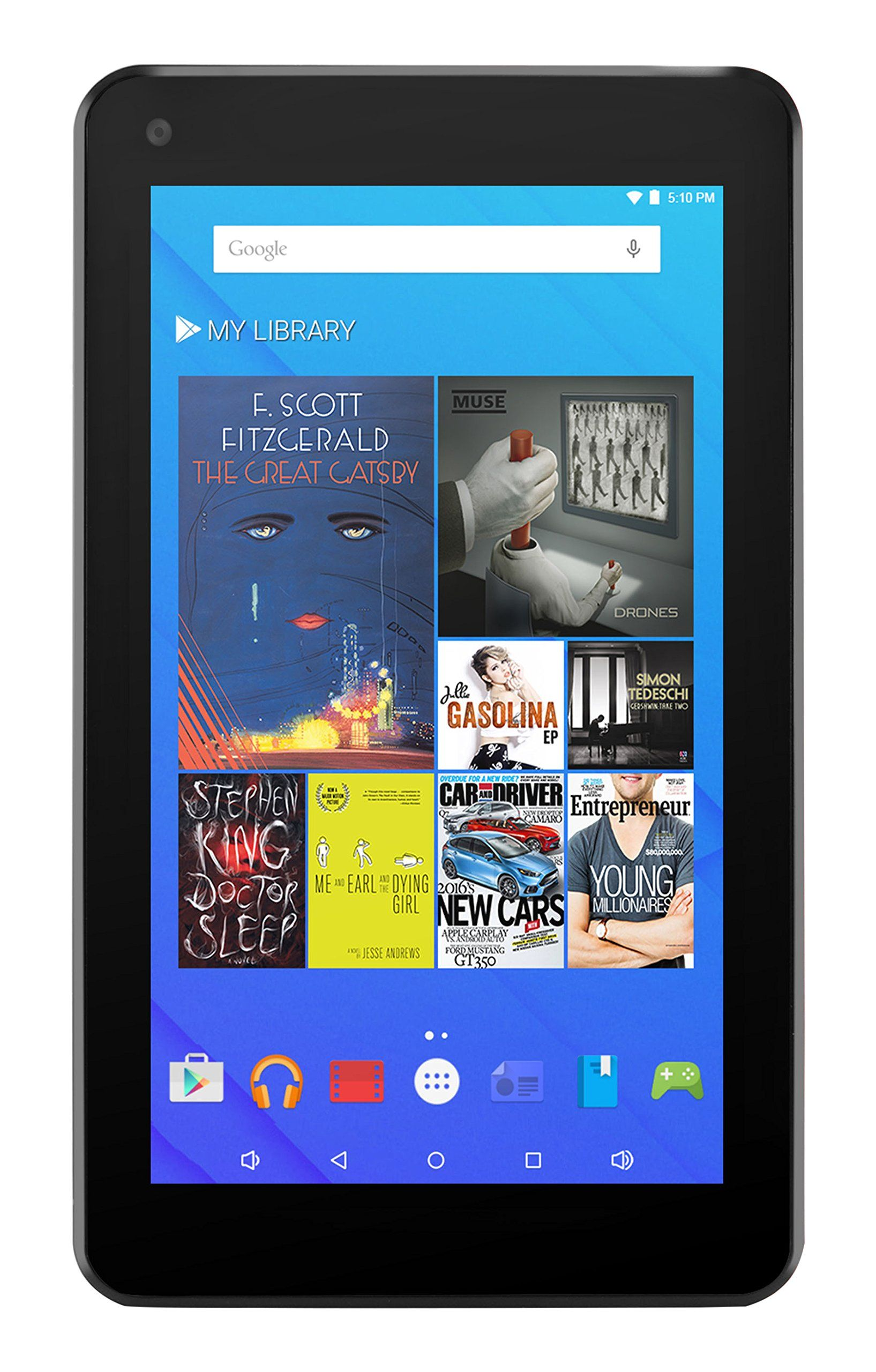 Ematic 7 hd 8gb quad core tablet with android 5 1 lollipop google