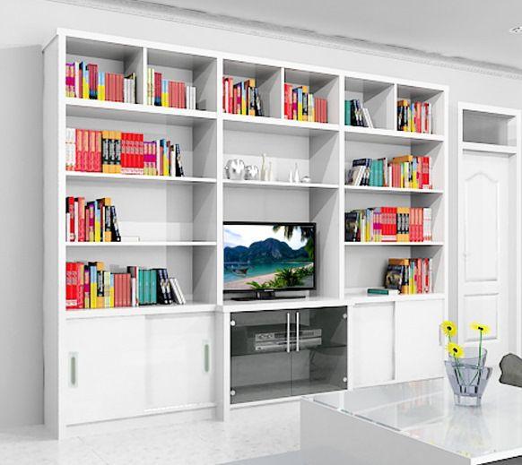 Bufet Tv Kombinasi Rak Buku Mewah