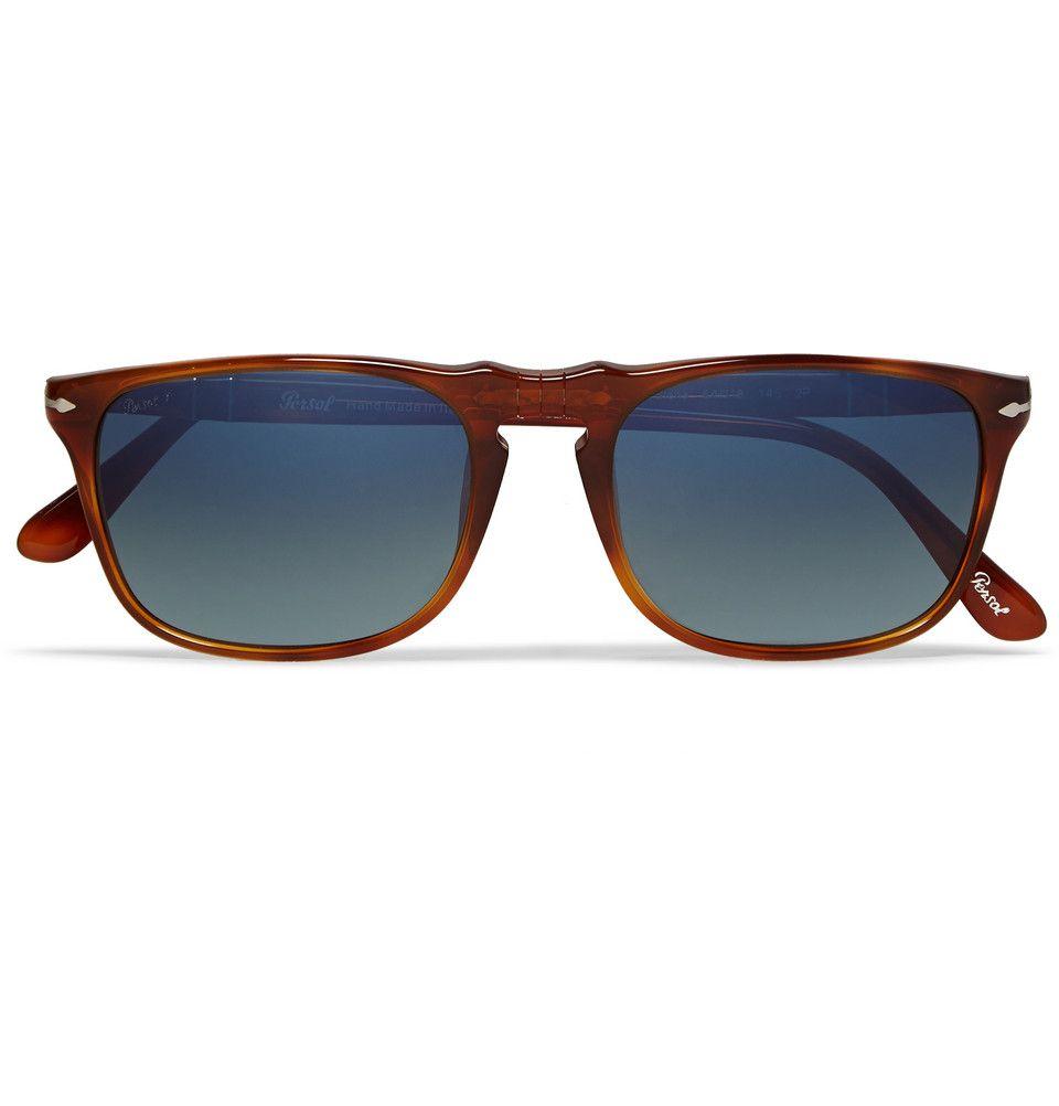 Persol - D-Frame Polarised Acetate Mirrored Sunglasses | Occular ...