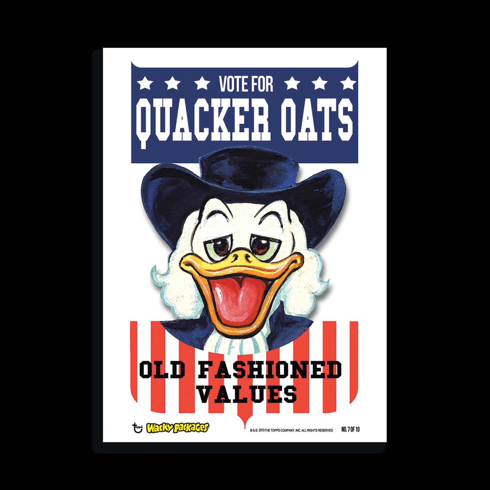 2015 Wacky Packages Parody Art Prints. Quacker Oats TO