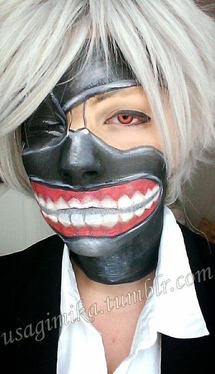 Afbeeldingsresultaat Voor Tokyo Ghoul Face Paint Face Painting Easy Face Paint Face Drawing