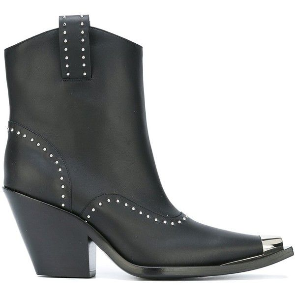 Studded Leather Cowboy Boots Givenchy oXbtro3Xr