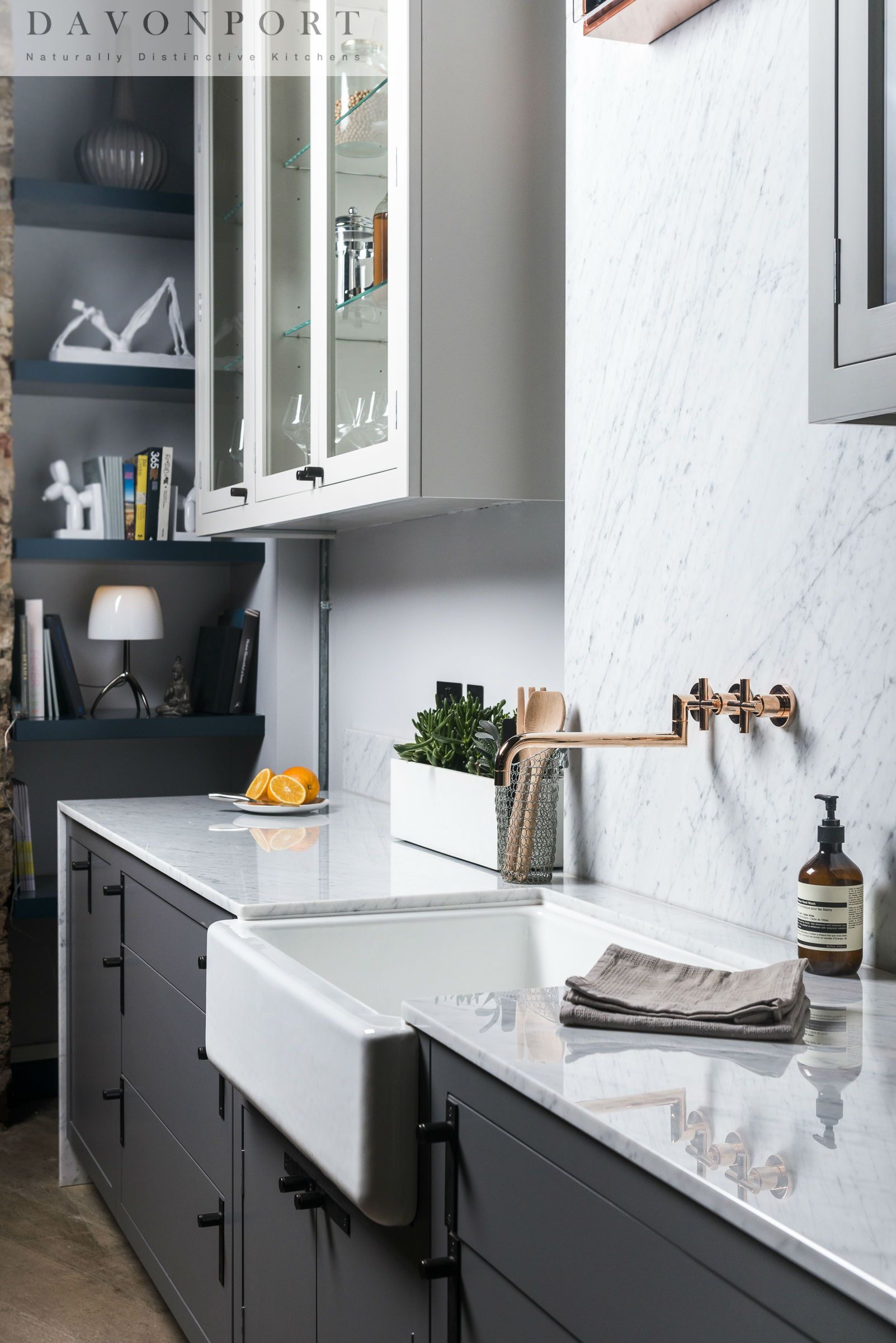 Best Dark Grey Cabinets With A Light Worktop And An Accent Of 400 x 300