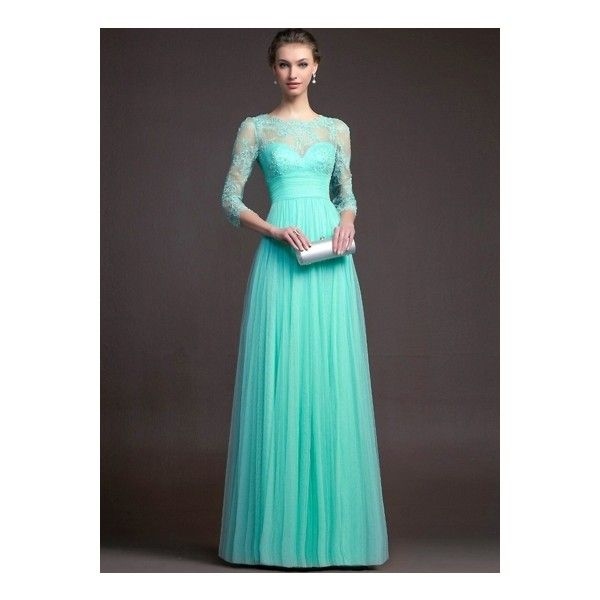Lace Long Sleeve Formal Long Prom Dress ($25) liked on ...