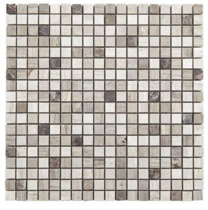 mocha marble mix mosaic wall tile b q home pinterest mosaic