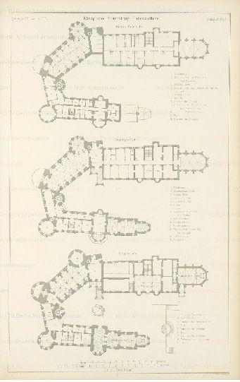 Burg Hohenzollern Castle Floor Plan Castle Plans Mansion Plans