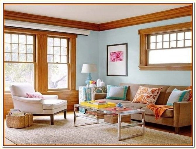 40 Stylish Paint Colors for Living Room with Oak Trim Ideas images