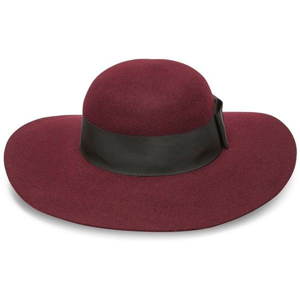 d6bd7a37 Kate Spade New York Wool Wide Brimmed Floppy Hat (3.095 CZK) ❤ liked on