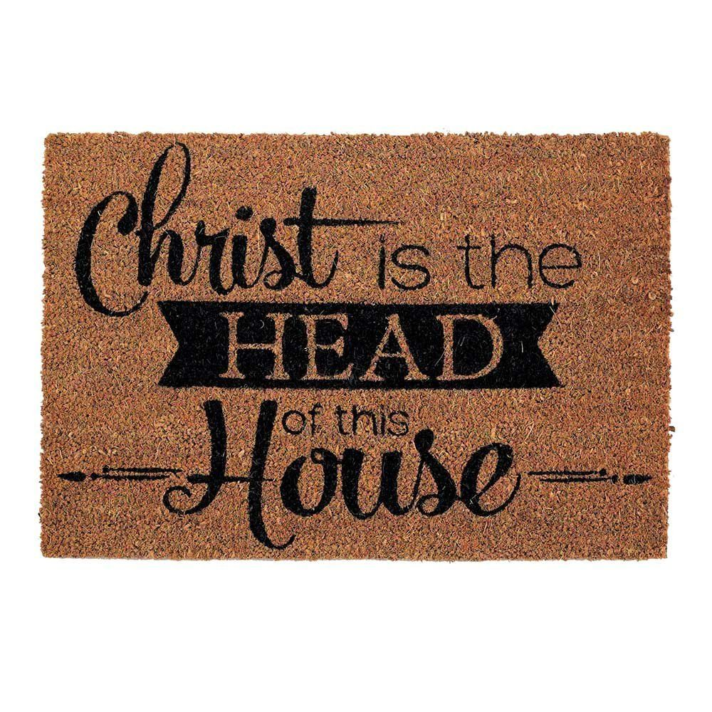 Christ Is The Head Of This House Door Mat Christian