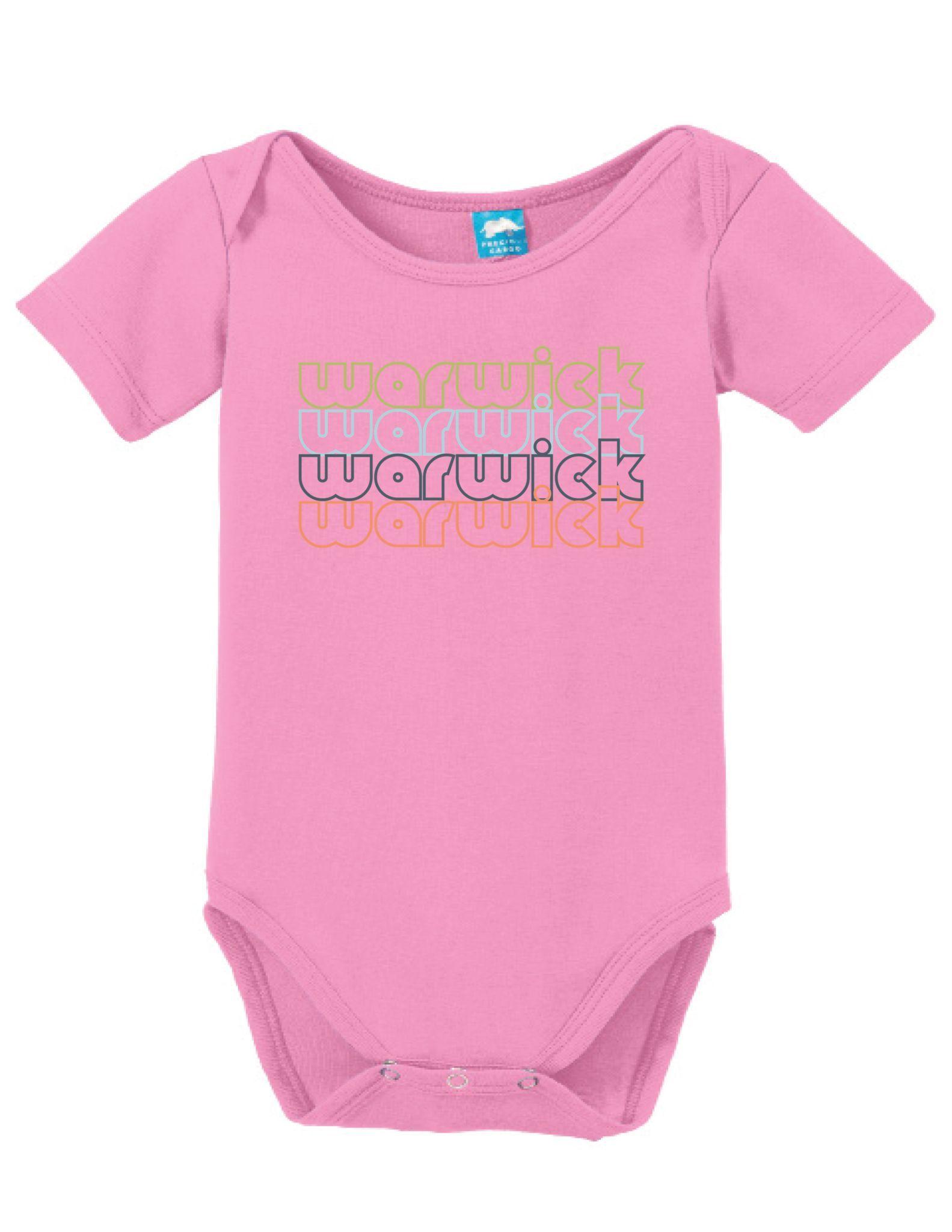 Warwick Rhode Island Retro Onesie Funny Bodysuit Baby Romper