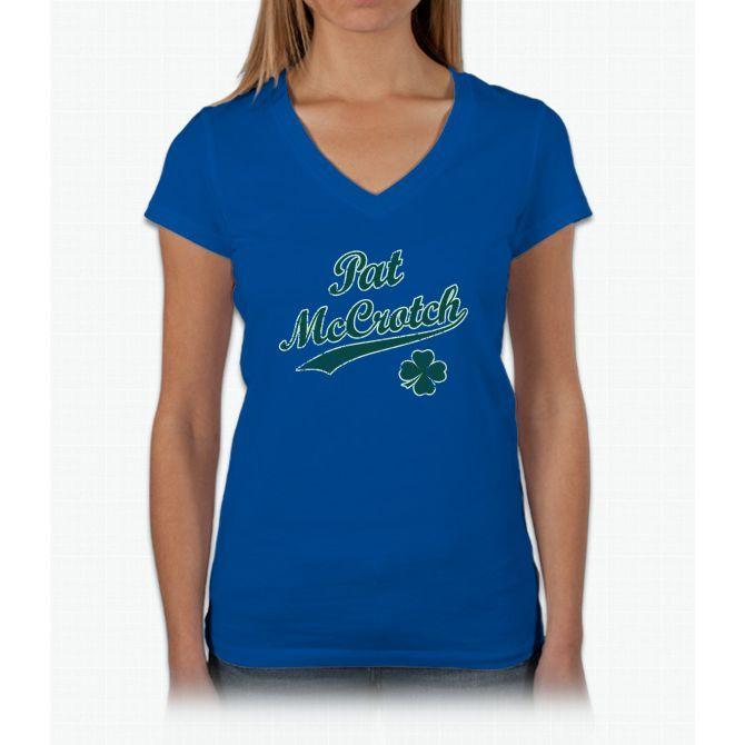 Vintage Pat Mccrotch [d] Womens V-Neck T-Shirt