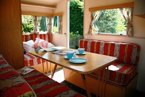 Nice Simple Mid Century Style Caravan Interior INSPIRATIONS