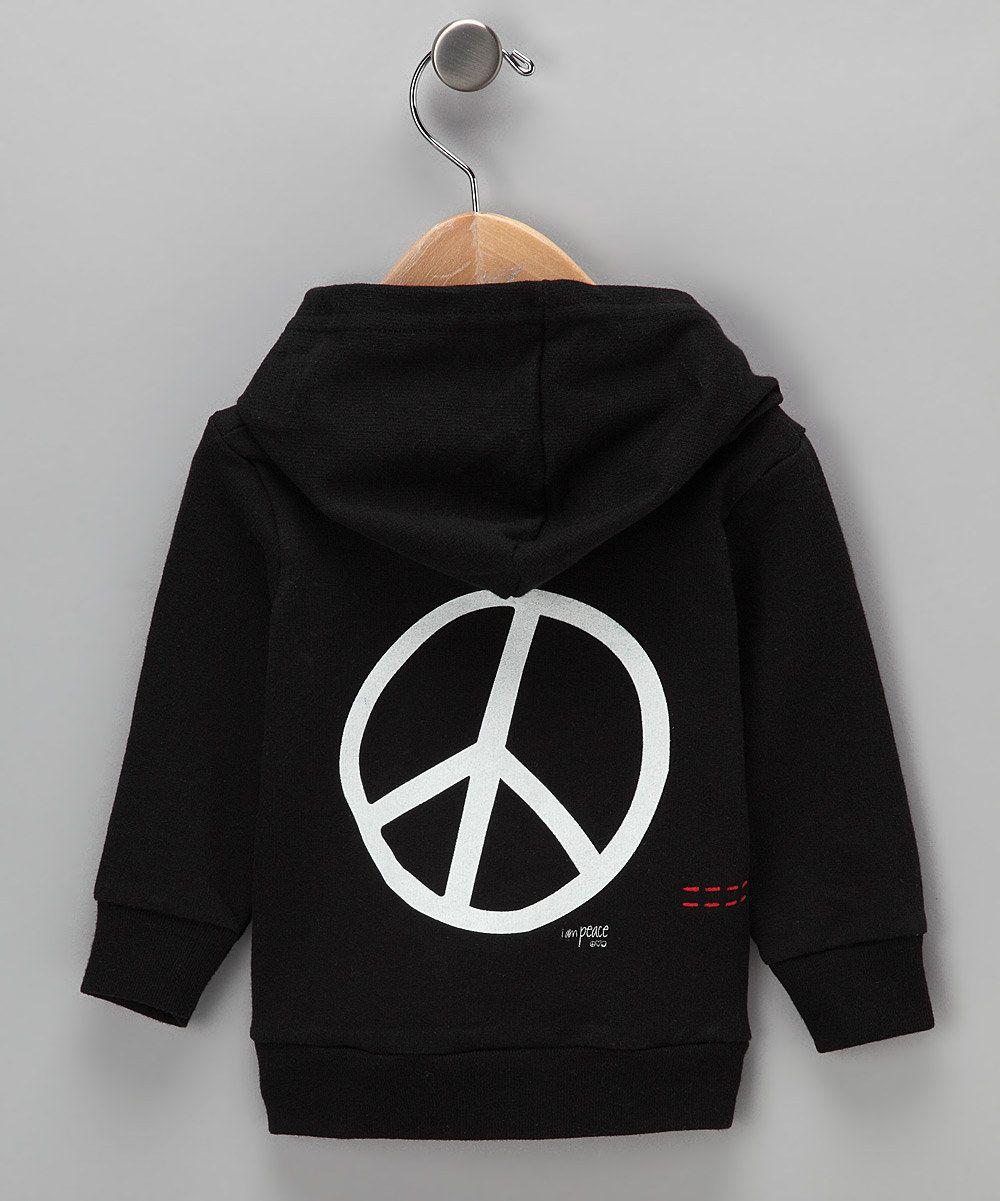 Black Peace Hoodie By Peace Love World