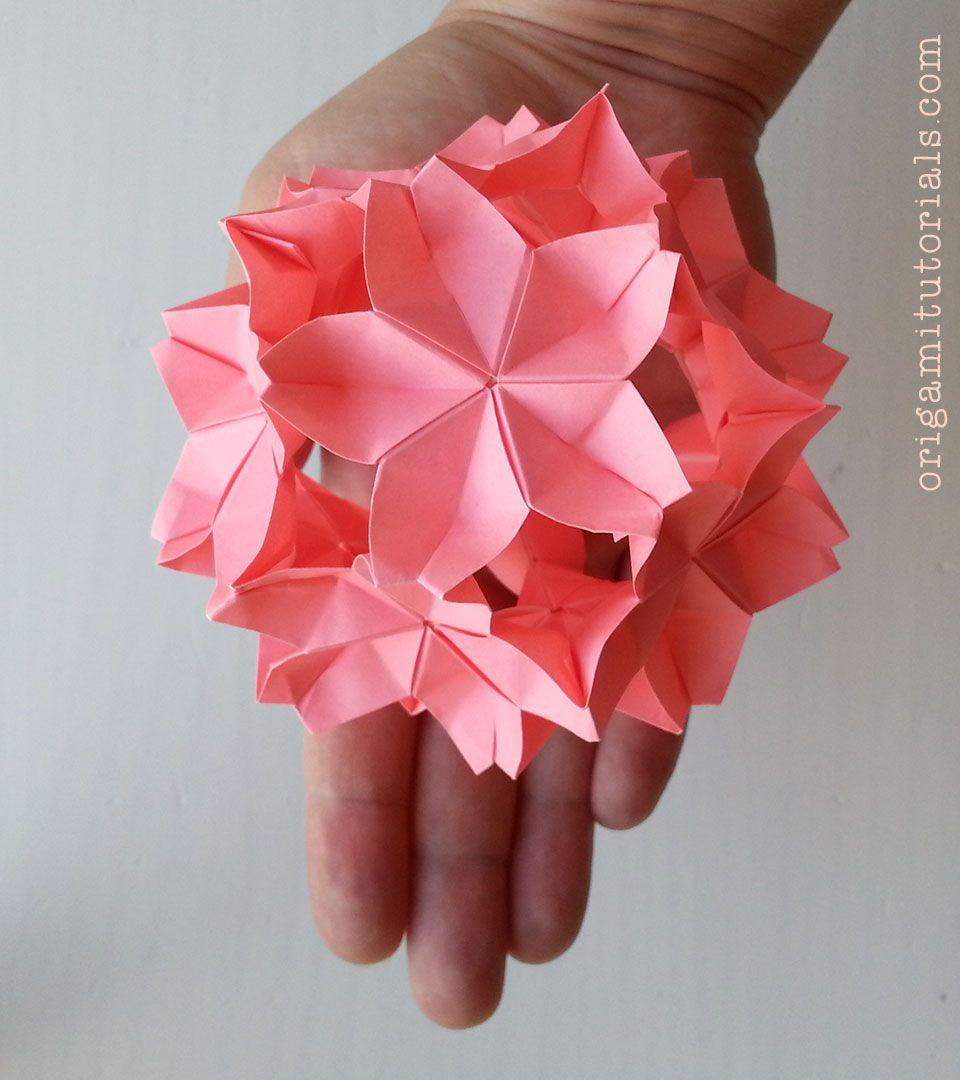 Sakuradama Cherry Blossom Ball By T Kawasaki Origami Korobki Origami Cvety