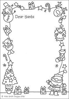 wide frame coloring pages christmas - photo#4