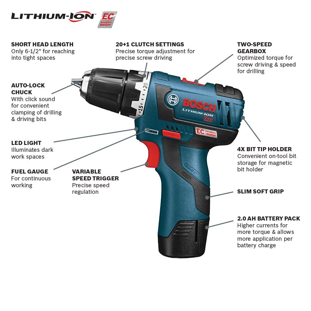 Bosch 12volt Max Brushless 3 8inch Drill Driver Kit Ps3202 With 2 Lithiumion Batteries 12v Charger And Carrying Case You Can Power Tools Drill Drill Driver
