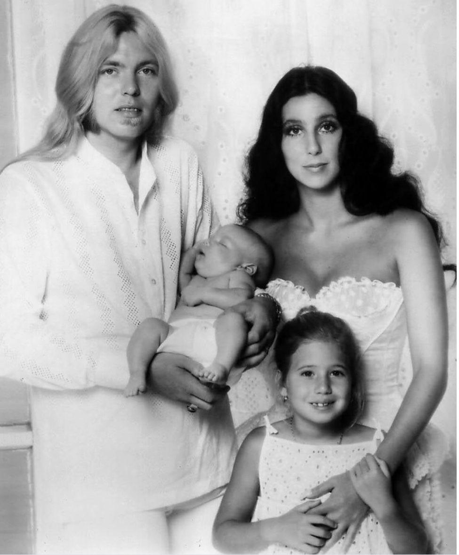 Gregg Allman Holding His Baby Elijah Blue Allman, Cher