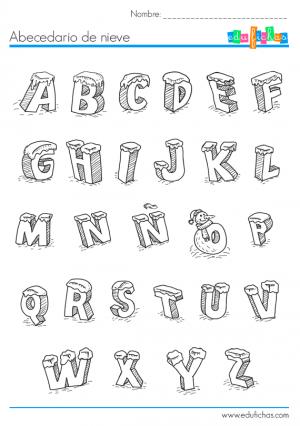 abecedario de nieve | Navidad | Pinterest | Abecedario, Nieve y ...