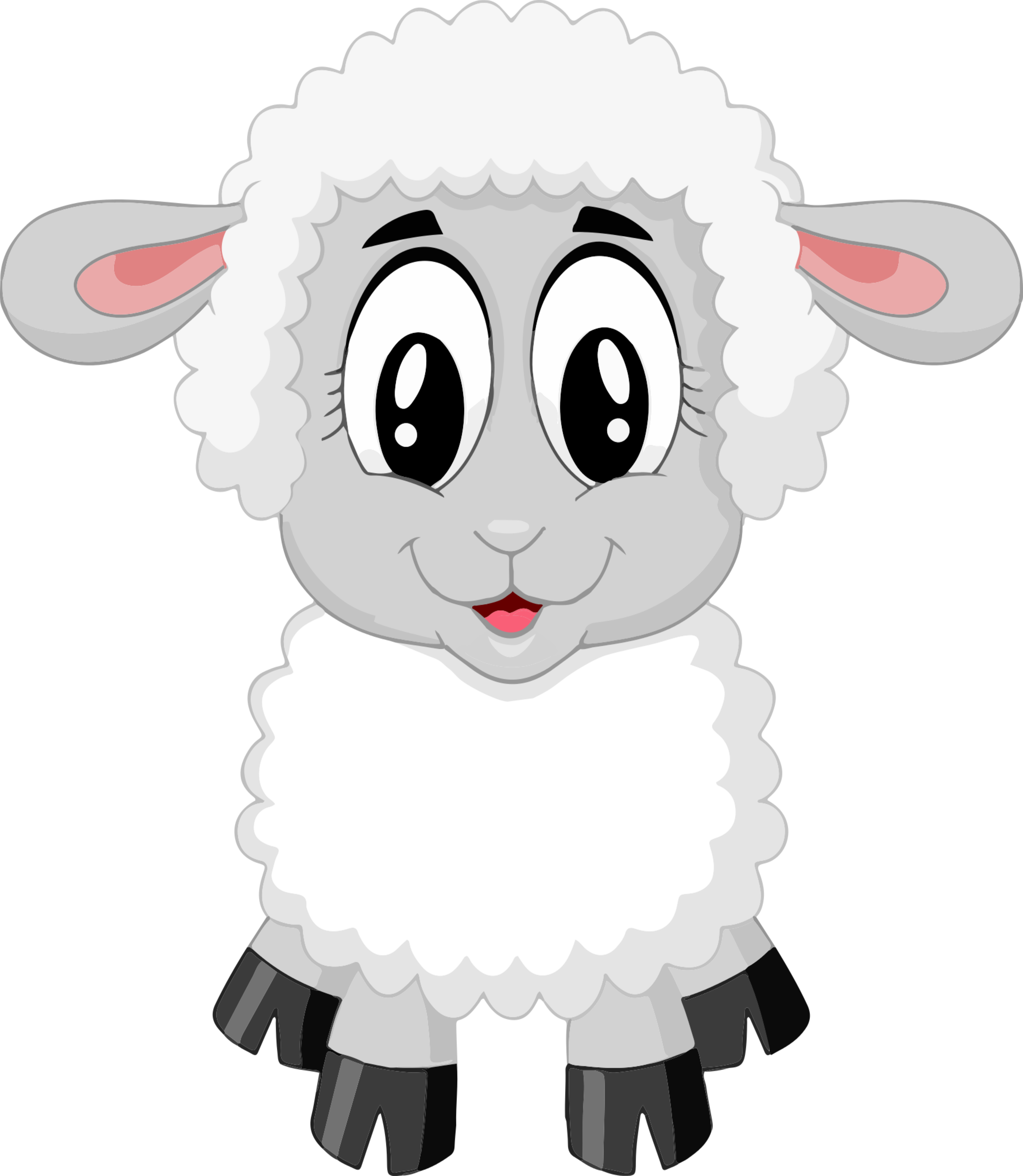 Sheep Design Farm Animals Grazing Lamb T Shirt Design Circus T Shirt Designs Sheep Cartoon Cute Sheep Animal Clipart