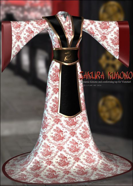 Dynamic Sakura Kimono | Clothing for Poser and Daz Studio