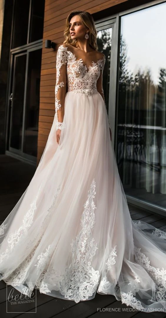 2020 Best Beautiful Lace Dusty Rose Bridesmaid Dresses