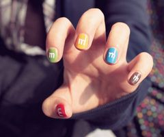 m&m nails - how sweet