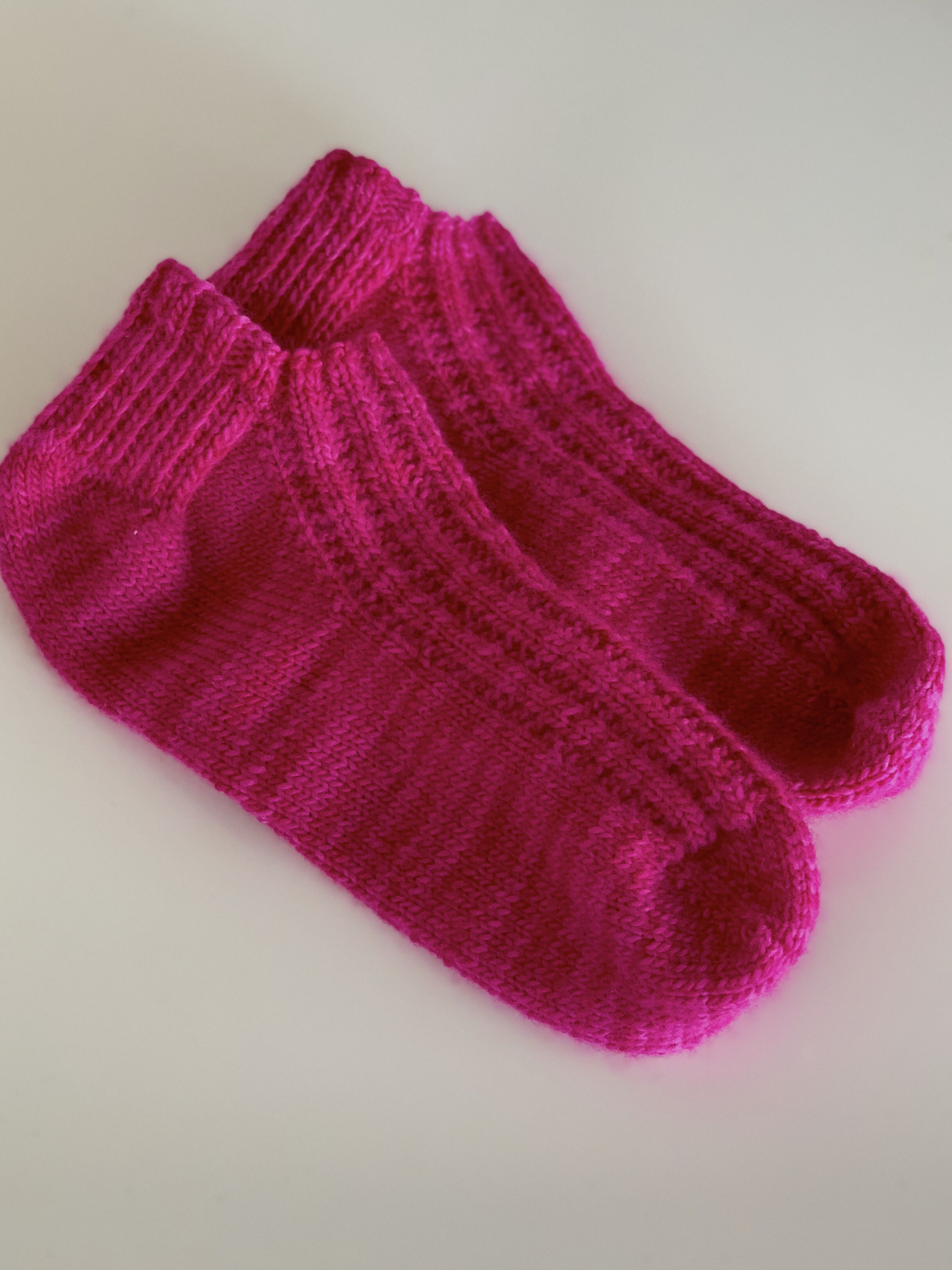 29d91060e578 Hand knitted stunning pink ankle socks. These are 100% pink variegated  wool. So soft and so comfortable to wear and not itchy like some wool can  be.