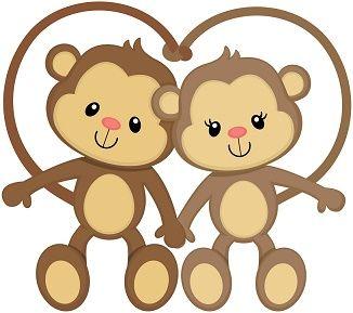 Monkey Valentine Animal Clipart Clip Art