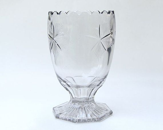 Early American Pattern Glass Antique Celery Vase Eapg Celery