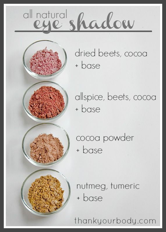 All Natural Homemade Eyeshadow Recipe Natural Beauty Diy Homemade Eyeshadow Diy Beauty Recipes