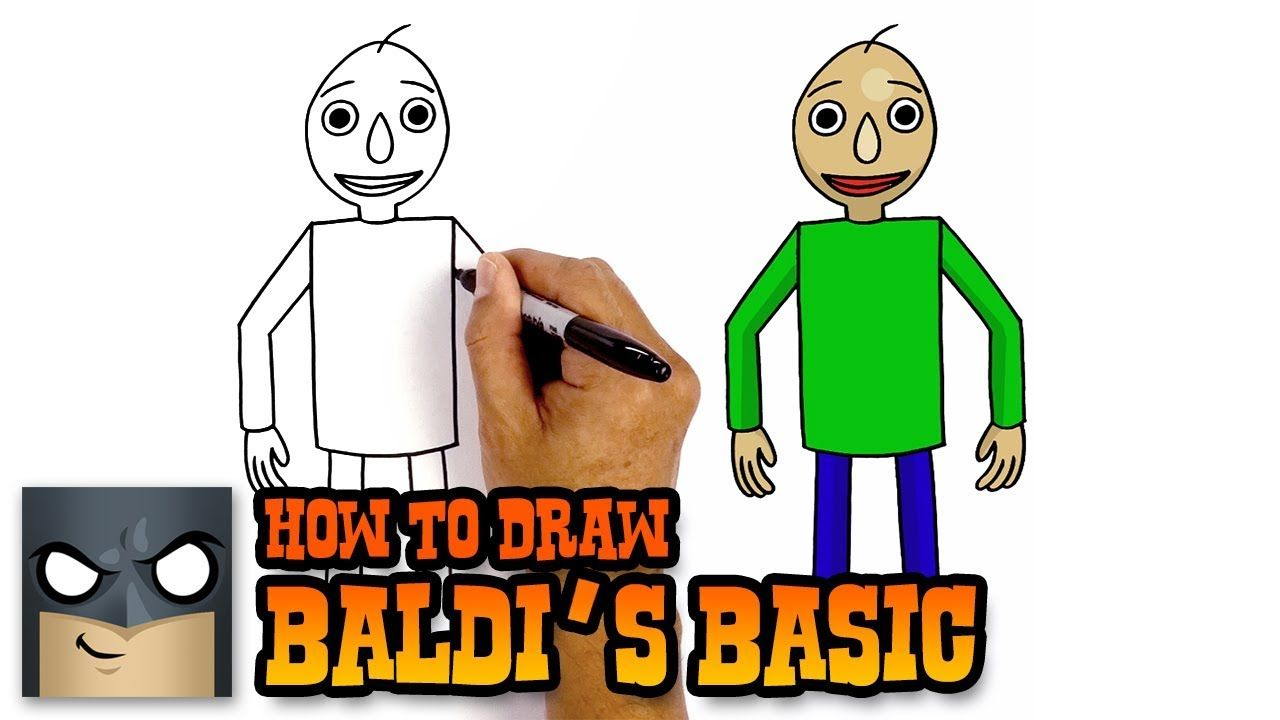 How To Draw Baldi S Basic For Beginners Step By Step Tutorial