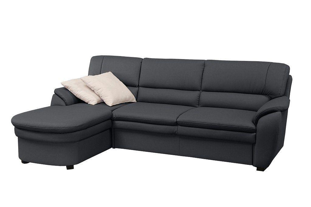 sit\more Ecksofa schwarz, Recamiere links, FSC®-zertifiziert Jetzt - wohnzimmer couch schwarz