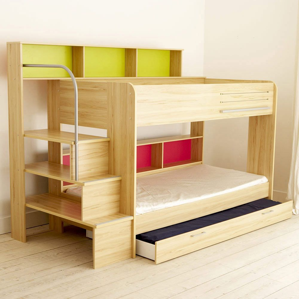 Best Harbour Natural Storage Bunk Bed Bunks Cabin Beds 640 x 480