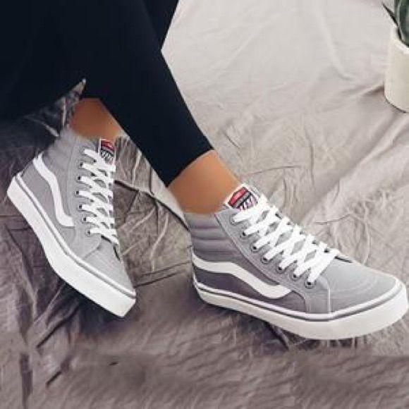 Hi-Sk8 Light Grey Vans | Vans shoes
