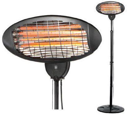 Oypla 2KW Quartz Free Standing Outdoor Electric Garden Patio Heater